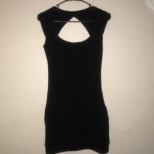 black bodycon dress from Guess